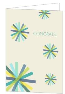 Multicolored Confetti Congratulations Card