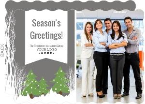 Modern Seasons Greetings Business Holiday Card