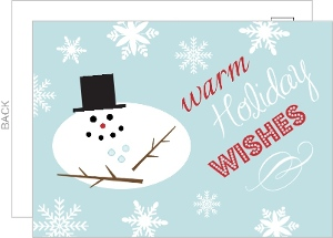 Melting Snowman Business Holiday Card