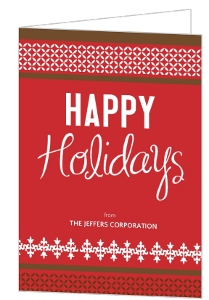 Classic Red Pattern Business Holiday Card