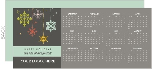 Business Holiday Greeting Card Calendar