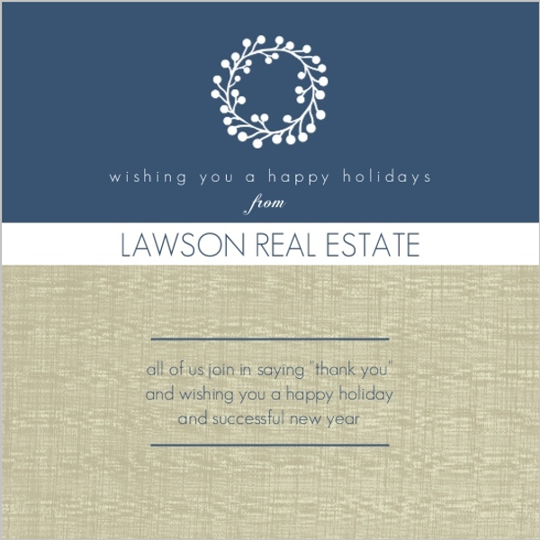 Refined Linen Business Holiday Greeting Card
