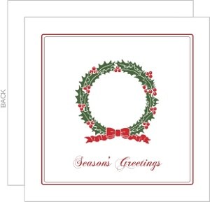 Holiday Wreath Business Greeting Card
