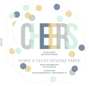 Colorful Cheers Confetti Business Holiday Party Invite