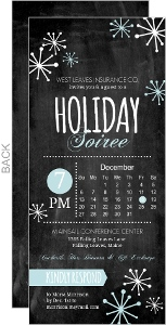 Chalkboard Snowflake Business Holiday Party Invitation