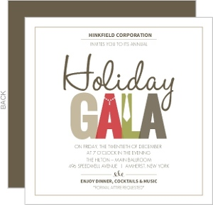 Muted Formal Wear Business Holiday Party Invitation