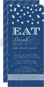 Modern Snowy Navy Office Holiday Party Invitation