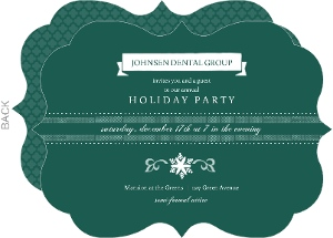 Green Cocktail Dental Holiday Party Invitation
