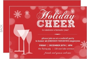 Corporate Holiday Party Invites