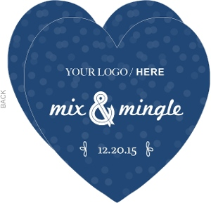 Midnight Blue Mix Mingle Business Holiday Party Invitation
