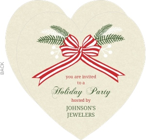 Holiday Ribbon Business Party Invitation