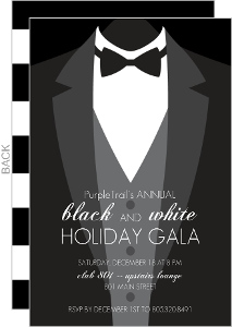 Formal Black Tie Corporate Holiday Party Invitations