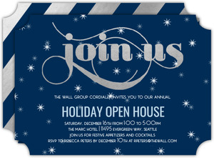 Silver Join Us Business Holiday Party Invitation