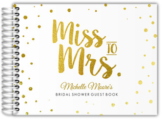 Miss To Mrs Faux Foil Bridal Shower Guest Book