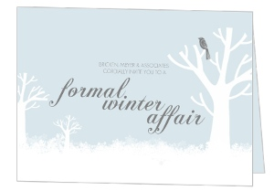 Blue Winter Scene Formal Affair Business Party Invitation
