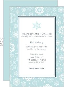 Blue Snowflakes Business Holiday Party Invitation