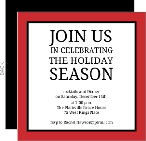 Business Holiday Party Invites - 11416