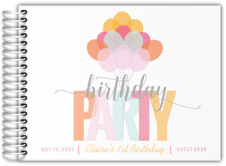Playful Balloon Bouquet Birthday Party Guest Book