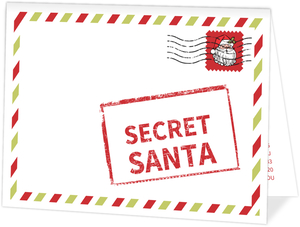 Top Secret Santa Red Corporate Holiday Party Invitation