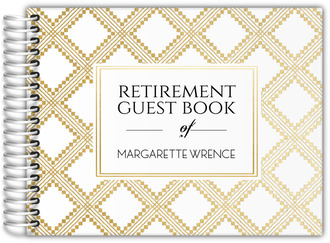 Art Deco Pattern Retirement Guest Book