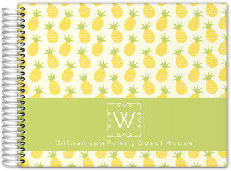 Pineapple Monogram Vacation Home Guest Book