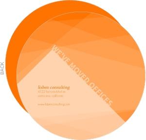 Diagonal Orange Shapes Business Moving Announcement