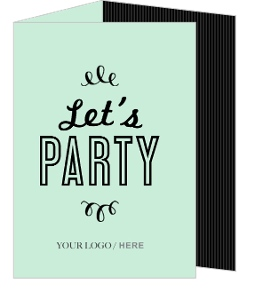 Mint Striped Party Invitation