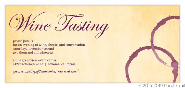 vintage wine tasting event invitation   business party invitations, Party invitations
