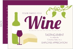 Cream Wine Tasting Business Party Invitation