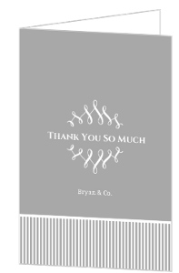 Gray And White Whimsical Frame Thank You Card