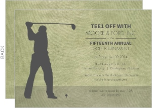 Rustic Green Golf Corporate Event Invitation