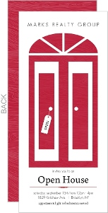 Modern Red Door Corproate Open House Invitations