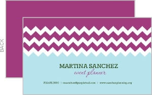Purple and Blue Chevron Business Card