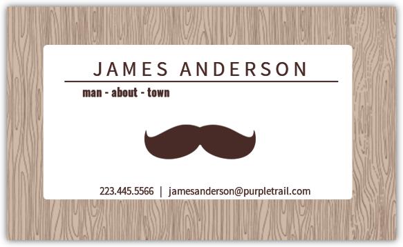 Mustache Man Business Card