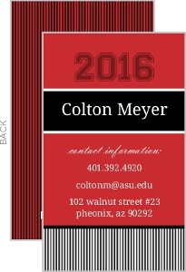 Collegiate Stripe Business Card