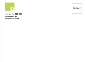 Green And Pink Accent Boxes Envelope - 11553