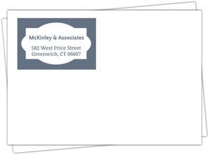 Blue Gray Frame Envelope