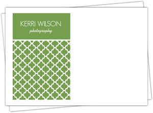 Green Moroccan Pattern Envelope