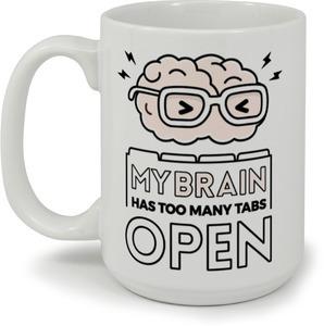 Braint Tabs Funny Mug