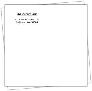 Standard Black Return Address Envelope