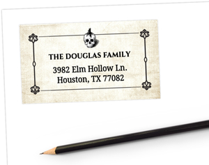 Haunting Skull Address Label