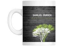 Rustic Green And Grey Tree Coffee Coffee Mug