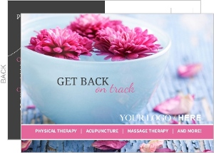 Pink and Gray Business Postcard