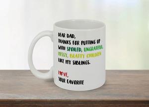 Dear Dad Funny Father's Day Mug