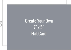 Create Your Own 7x5 Flat Card