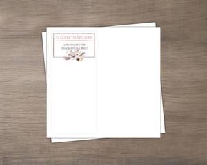 Romantic Feathers Custom Envelope