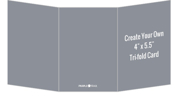 Create Your Own 4X5.5 Tri-Fold Card | Create Your Own Cards