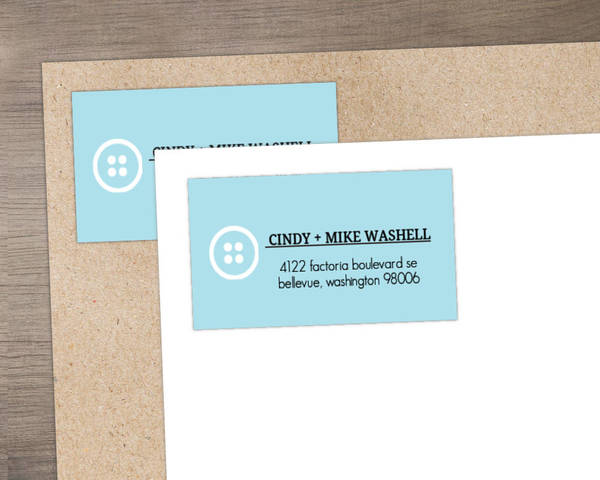 Cute Baby Face  Address Label