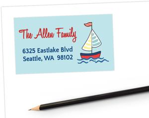 Sailing Boy Address Labels