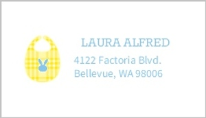 Blue And Yellow Shower For Two Address Label